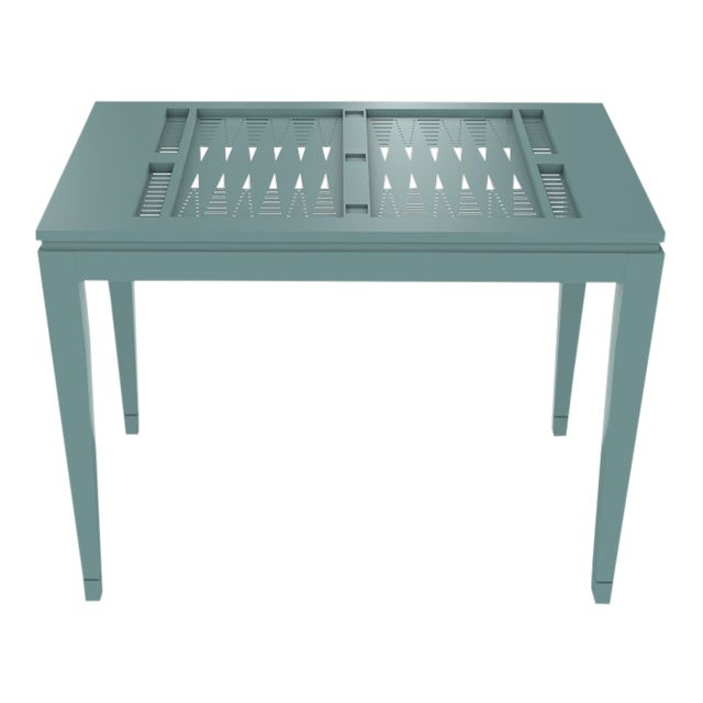 Oomph Backgammon Outdoor Table, Green For Sale