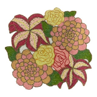 Kim Seybert Beaded Floral Placemats - Set of 12 For Sale