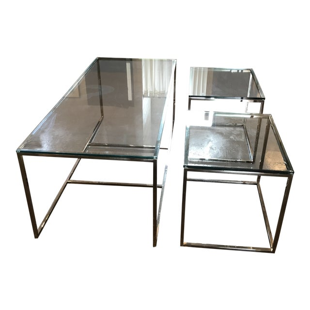 Mid-Century Modern Coffee Table & Side Tables - Set of 3 For Sale