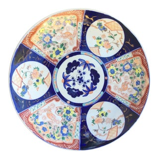 Large Antique Japanese Hand Painted Imari Charger Special Price %20 Off For Sale
