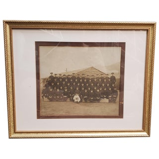 1910s World War I United States Army Sepia Framed Regimental Photograph For Sale