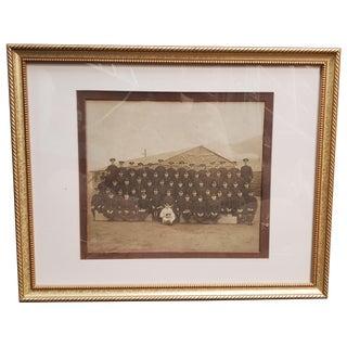 World War I United States Army Sepia Framed Regimental Photograph For Sale