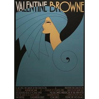 Original 1980s Vintage Toronto Theatre Poster, Valentine Browne For Sale