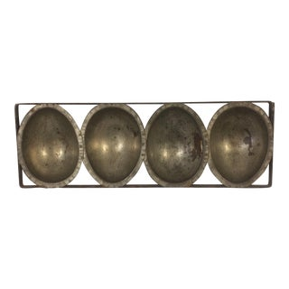 Vintage Metal Chocolate Egg Mold