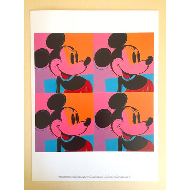 "1990s Andy Warhol Foundation Rare 1995 Lithograph Print Pop Art Poster "" Mickey Mouse "" 1981 For Sale - Image 5 of 6"