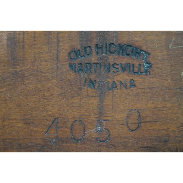 Wood Old Hickory Signed Vintage Woven Splint Back Dining Chairs - Set of 4 For Sale - Image 7 of 10