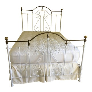 Late 19th Century Antique Iron Bed For Sale