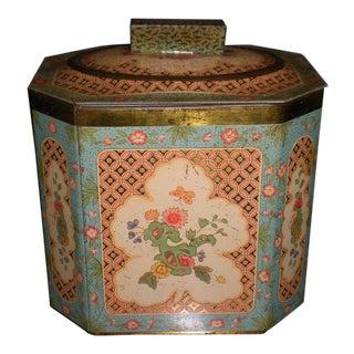 Vintage Baret Ware Floral Tin Box Canister For Sale