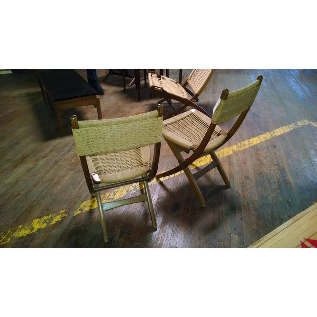 Danish-Style Folding Accent Chairs - A Pair - Image 4 of 6