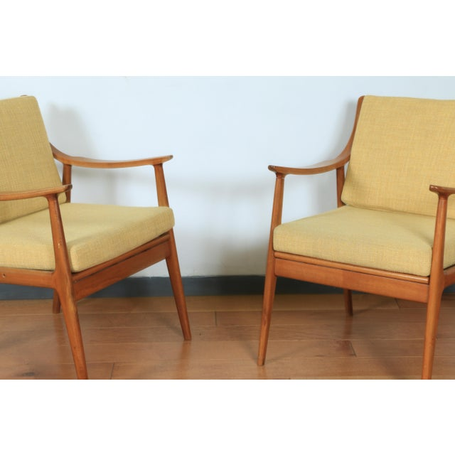 Mid-Century Modern 1960s Yugoslavia Yellow Side Chairs For Sale - Image 3 of 8