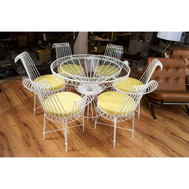 Mathieu Mategot Set of Table and 6 Chairs For Sale In San Francisco - Image 6 of 10