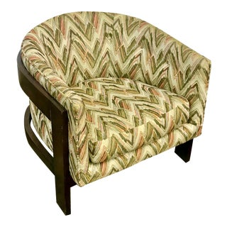 Mid-Century Modern Bargello Barrel Chair