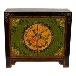 Green Gansu 2 Door Floral Cabinet For Sale