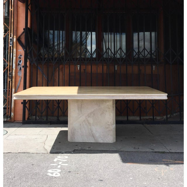 1960s Italian Travertine Dining Table For Sale - Image 13 of 13