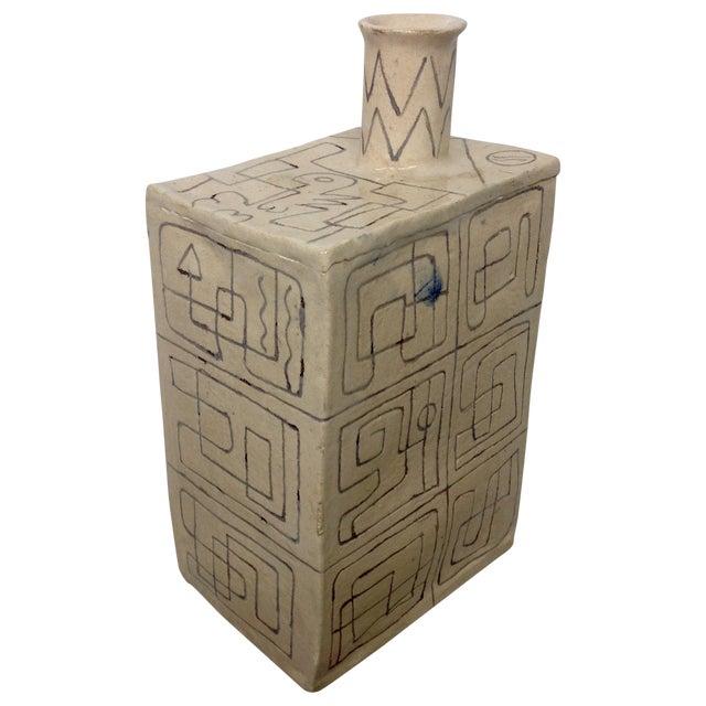 Carved Studio Pottery Vase - Image 1 of 8