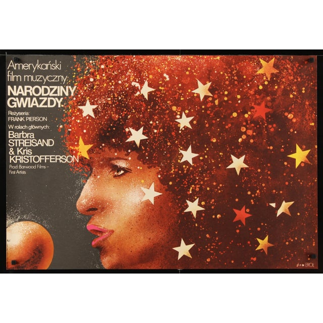 "Barbra Streisand ""A Star Is Born"" Polish Poster - Image 2 of 3"