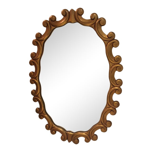 Oval Gold Scroll Mirror - Image 1 of 5
