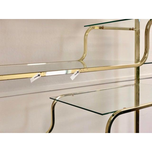 DIA - Design Institute America 1970s Milo Baughman for Design Institute of America Brass Etagere For Sale - Image 4 of 9