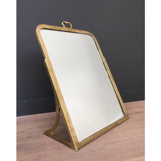 French Brass Dressing Mirror Made for Shoes For Sale - Image 3 of 11