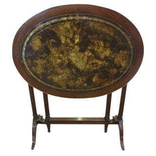 Jansen Tortoise Leather Tuck Away Table