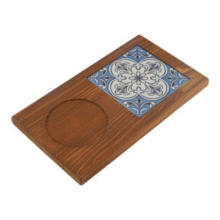 Turkish Ceramic Coffee Table With Pine Tree - Ethnic Tile Presentation For Sale