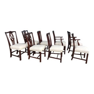 Set of 8 Kindel Chippendale Dining Chairs For Sale