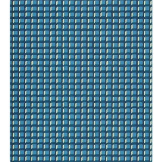 Cole & Son Mosaic Wallpaper Roll - Blue And Gold For Sale