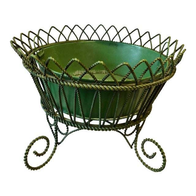 French Wrought Iron Footed Planter For Sale