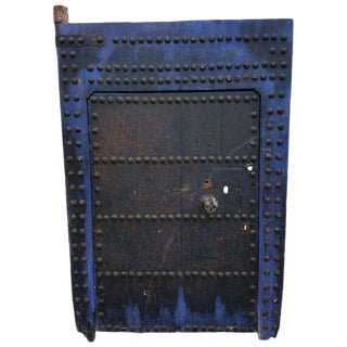 Antique Moroccan Blue Black Door For Sale