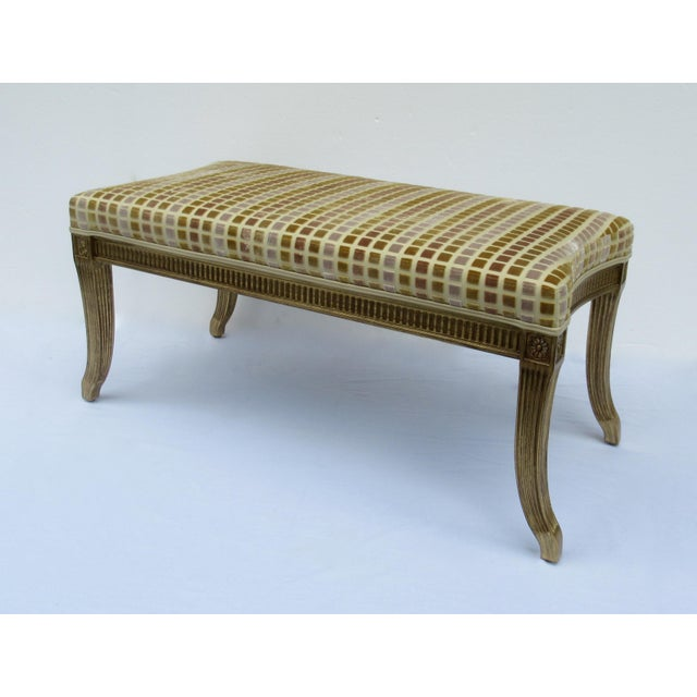 1990s Gilt French Empire Style Interior Crafts Bench For Sale - Image 5 of 13