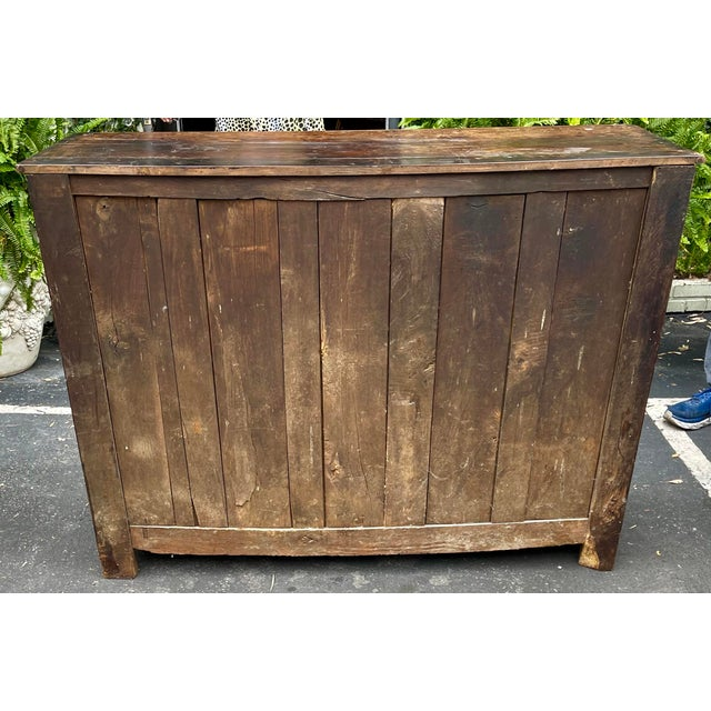 Brown Antiqie 18th C Italian Country Walnut Sideboard Buffet For Sale - Image 8 of 9