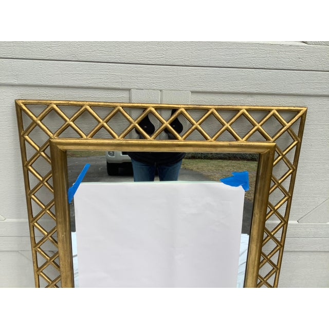 Gold Regency Style Gilt Wood Mirror For Sale - Image 8 of 10