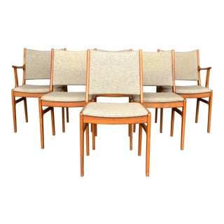 D-Scan Teak Dinning Chairs- Set of 6 For Sale