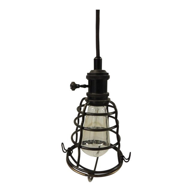Formation Style Industrial Cage Pendant Light - Image 1 of 4
