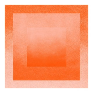 Jessica Poundstone Coral & Peach: Color Space Series Print For Sale