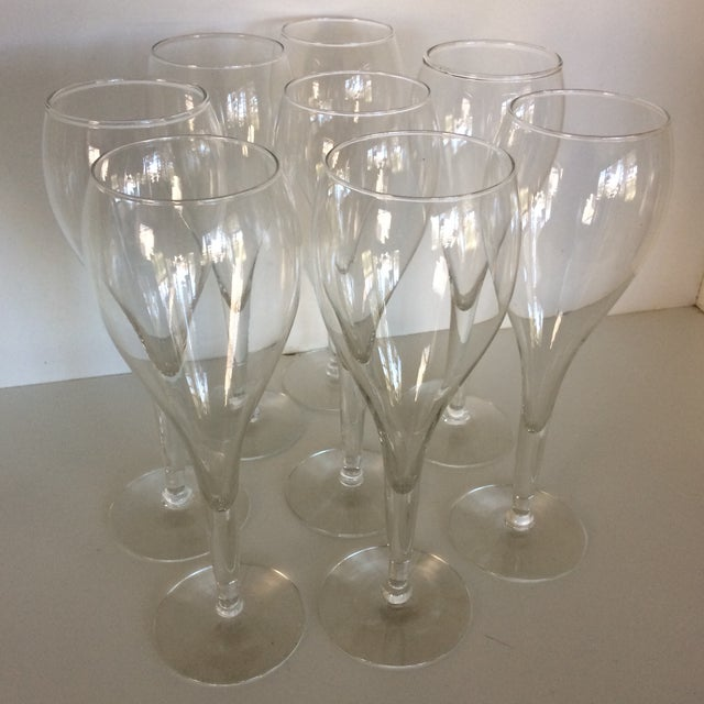 Crisa Hand Blown Crystal Tulip Style Champagne Glasses - Set of 8 For Sale - Image 13 of 13