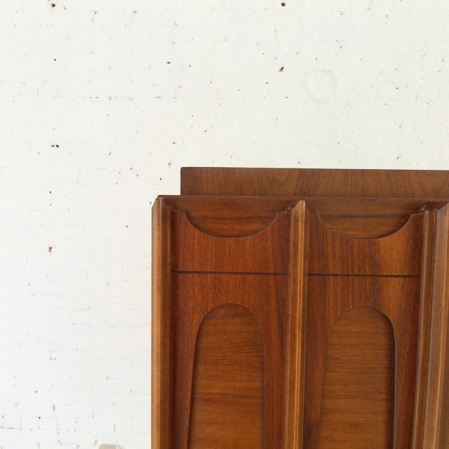 1970s 1970's Brutalist Highboy Armoire For Sale - Image 5 of 9