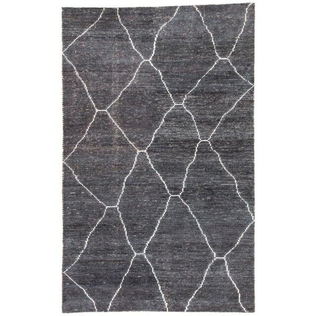 Jaipur Living Carmine Handmade Geometric Dark Gray/ Blue Area Rug - 5′ × 8′ For Sale In Atlanta - Image 6 of 6