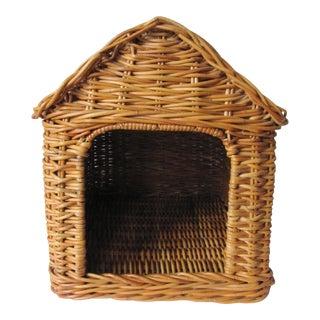 Vintage Wicker Dog House For Sale