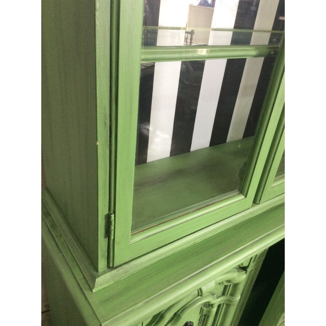 20th Century Chinoiserie Emerald Green Hutch For Sale - Image 11 of 13