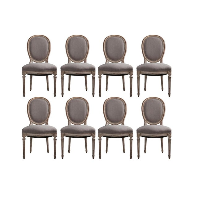 Early 20th Century French Louis XVI Style Hand-Carved Dining Chairs - Set of 8 For Sale - Image 5 of 5