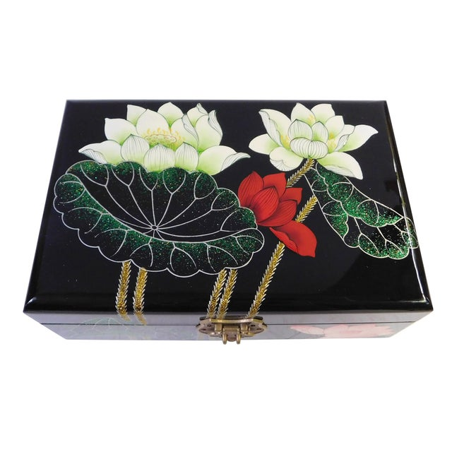 Chinese Oriental Lacquered Jewelry Box - Image 6 of 7