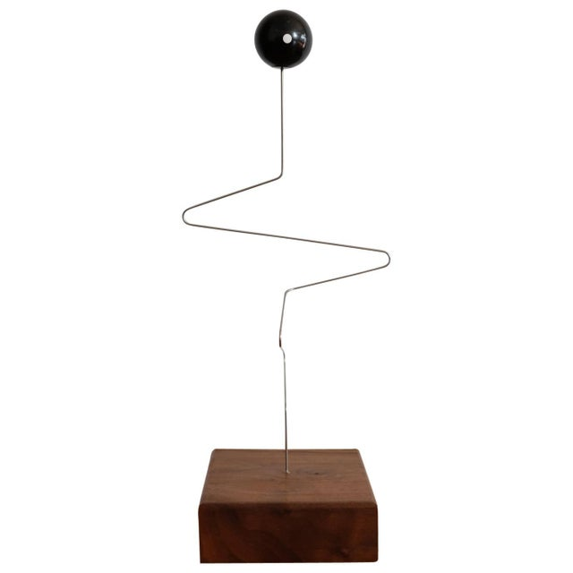 Black Kinetic Sculpture by Donald Max Engelman, 1960s For Sale - Image 8 of 8