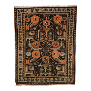 Antique Persian Hamadan Rug with Modern Tribal Style For Sale