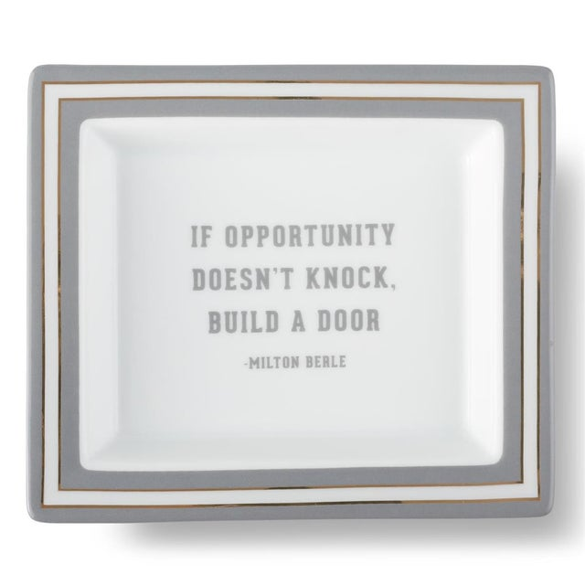 2020s Milton Berle Wise Sayings Gentlerman's Trinket Tray by Kenneth Ludwig Chicago For Sale - Image 5 of 5