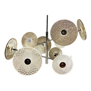 Modern Glass Disc Led Chandelier For Sale