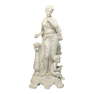 French Neoclassical Style Bisque Figurine of a Woman and Child For Sale