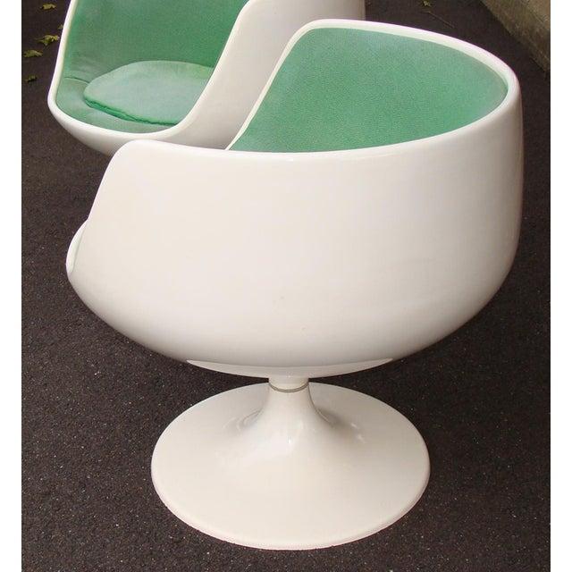 Mid-Century Modern Asko Eero Aarnio Cognac Chairs - a Pair For Sale - Image 3 of 8