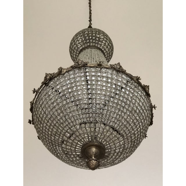 Oversized Cherub Acanthus Empire Chandelier For Sale - Image 9 of 11