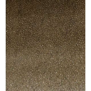 Neutral Gold and Silver Glass Beaded Wallpaper For Sale